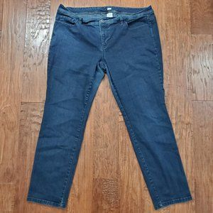 OLD NAVY Plus size Dark Low Waist Stretch Jeans 20